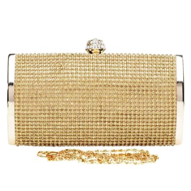 912c0065d7e Wocharm Women Party Prom Evening Clutch Hand Bag Ladies Purse Chain Fashion Glitter  Diamante Hand Bag