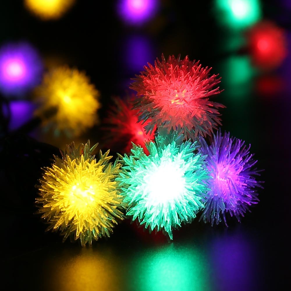 Luckled chuzzle ball solar string lights 23ft 50 led fairy luckled chuzzle ball solar string lights 23ft 50 led fairy decorative solar lights for outdoor home lawn garden patio party and holiday decorations mozeypictures Image collections