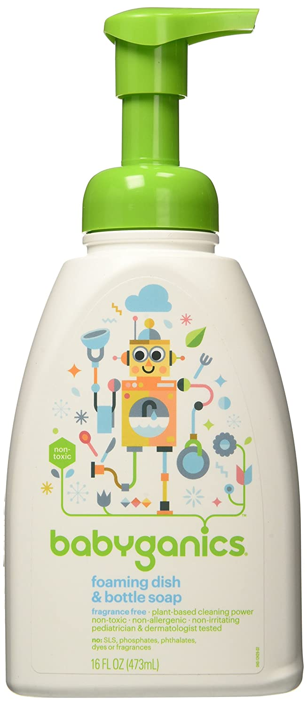 Babyganics Dish Dazzler Foaming Dish and Bottle Soap, Fragrance Free, 16 Fluid Ounce BGDISHSOAPFF
