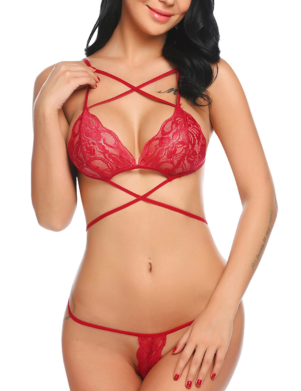 7f8b8f8074 This lingerie set is made from high quality lace material which is very  kind to skin