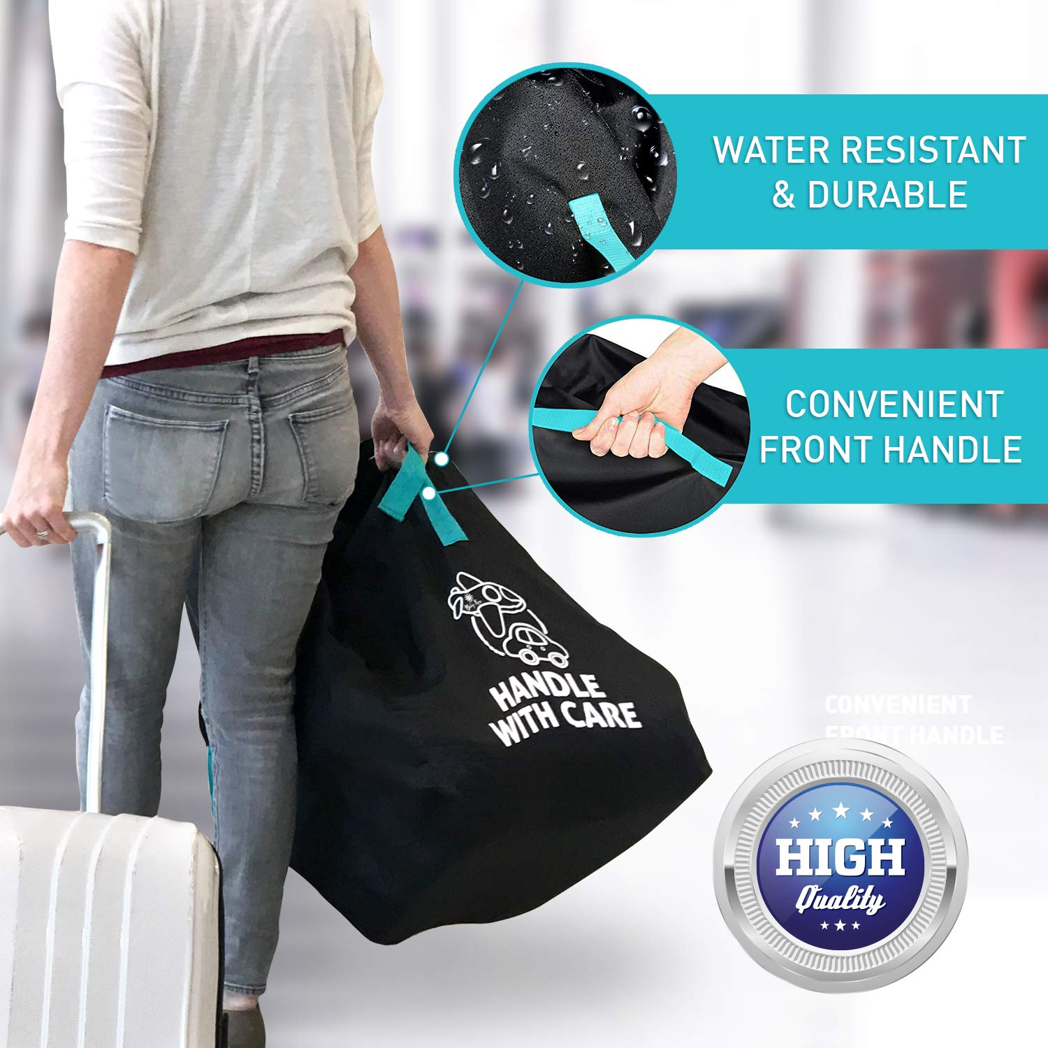 Car Seat Travel Bag for Airplane Cover Carry and Gate Check Your Car Seat