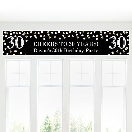 Amazon Big Dot Of Happiness Custom Adult 30th Birthday