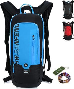Mochila Ciclismo Esquiar Ligero Resistente al agua Respirable Bicicleta Al aire libre Deportes Pequeña Equitación Excursionismo Viajar - 8 litros: Amazon.es: Deportes y aire libre