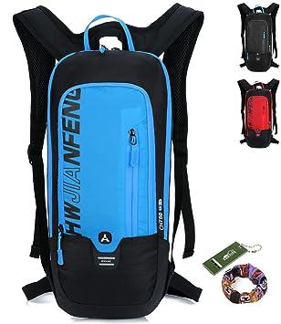 81f1e09ea8360 Fahrradrucksack Wasserdicht Professionell Kleiner Outdoor Sportrucksack  Rucksack Damen Herren - 10L (blau)