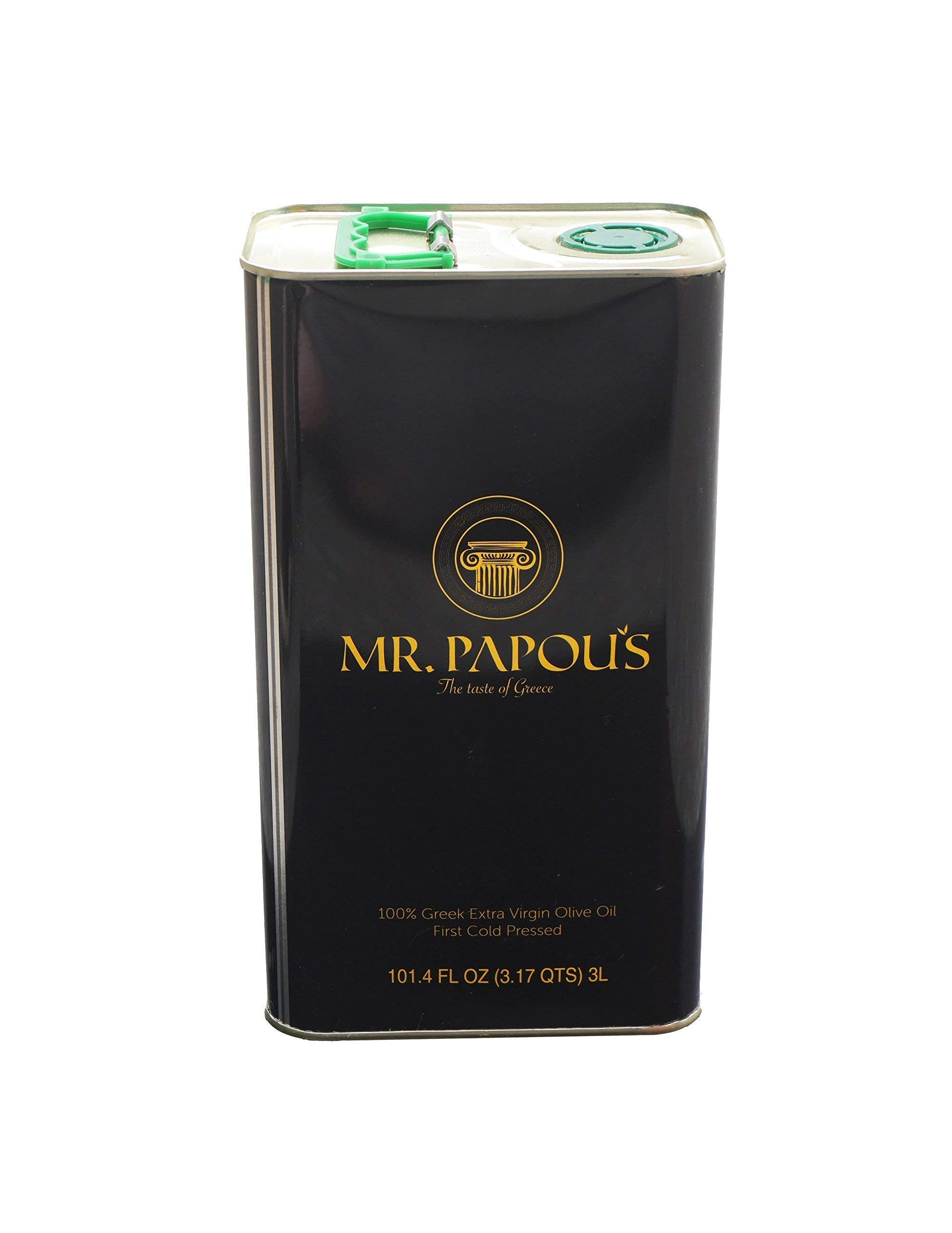 Mr. Papou's | Extra Virgin Olive Oil | First Cold Pressed | Family Owned | Harvested in Corinth, Greece | 3 Liter - 101.4 fl oz by Mr. Papou's (Image #3)