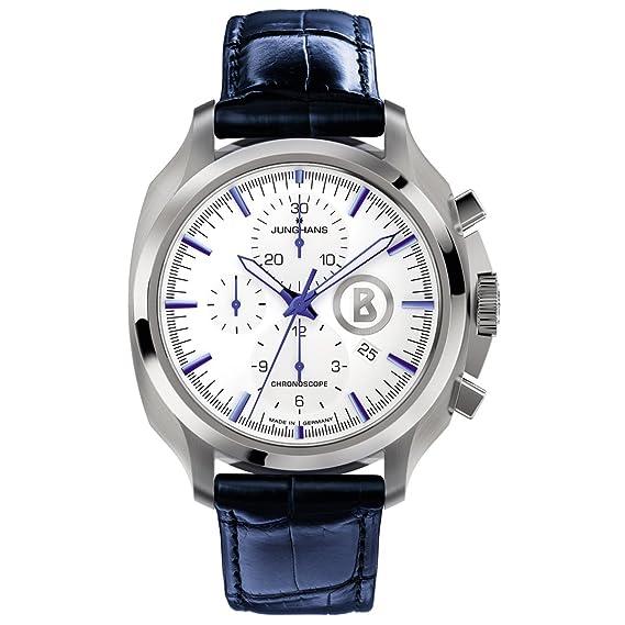 Junghans Uhren Bogner Willy Chronoscope 027/4260.00 - Reloj para hombres, correa de cuero