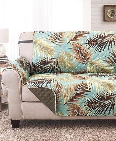 Tremendous Amazon Com Ltd Palm Print Furniture Cover Loveseat Cover Machost Co Dining Chair Design Ideas Machostcouk