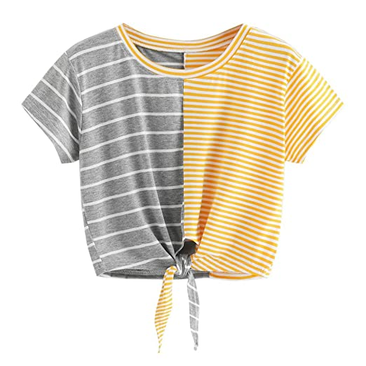 3e79ffbee1da Amazon.com  Paymenow Striped T Shirts