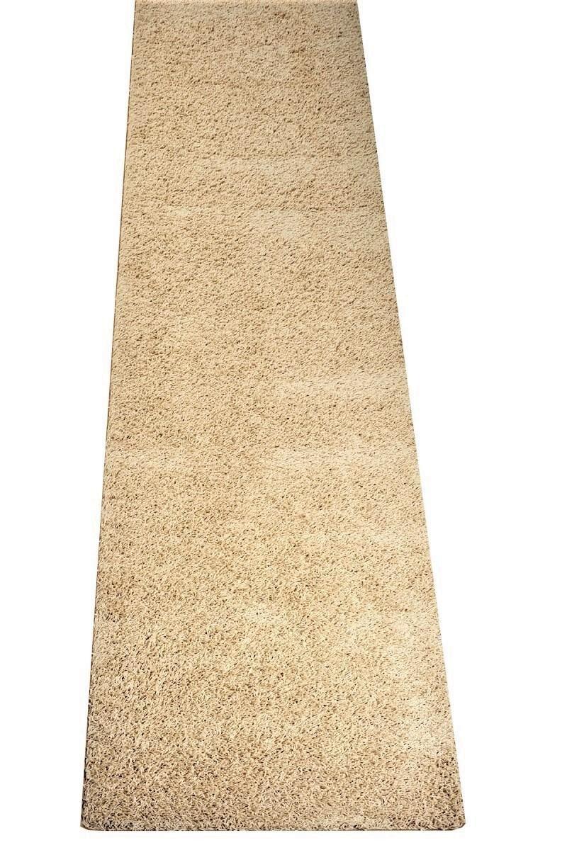 Hochflor Teppich Shaggy Gelb Läufer   Prüfsiegel  Blauer Engel   100 % Polypropylen  viele Größen und Farben erhältlich   pflegeleicht und strapazierfähig, Farbe Schlamm-Braun, Größe 80 x 500 cm B00USRGLPI Luf