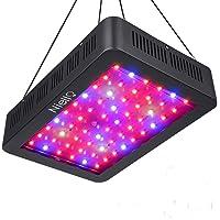 Niello 600W LED Pflanzenlampe Doppel-10W-Chips LED Grow Light Vollem Spektrum LED Wachstumslicht 60 LEDs Pflanzenlicht Grow Lamp mit UV & IR und mit Rope Hanger für Zimmerpflanzen,Gemüse und Blumen