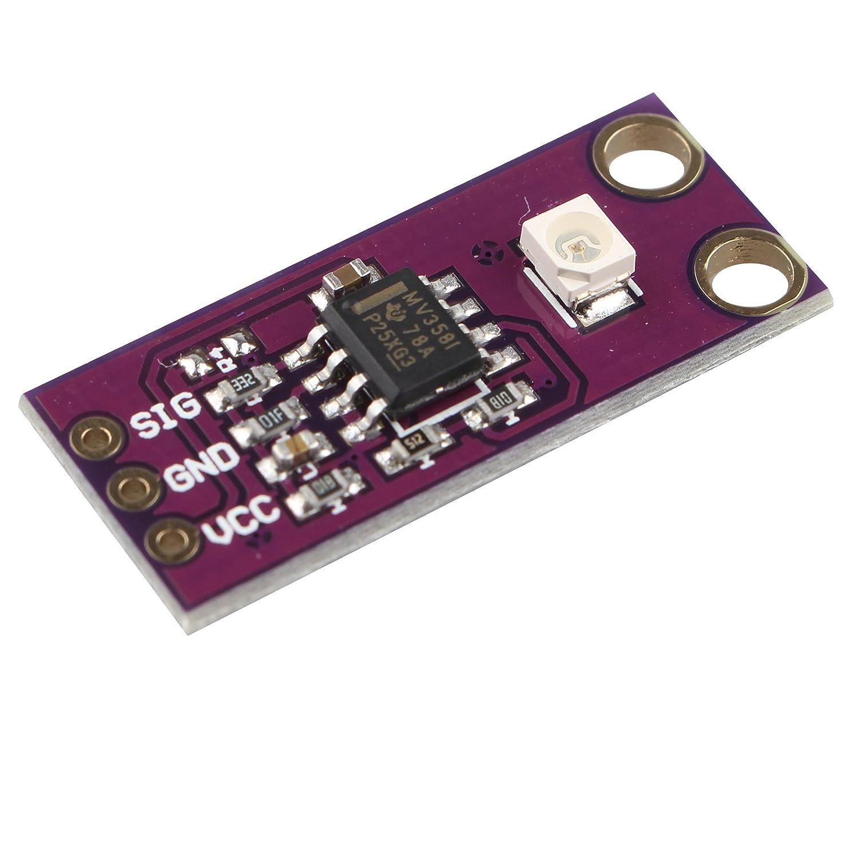HALJIA Guva-S12Sd Sunlight Intensity UV Sensor 240Nm-370Nm Uv Detection Sensor Module Light Sensor For Arduino