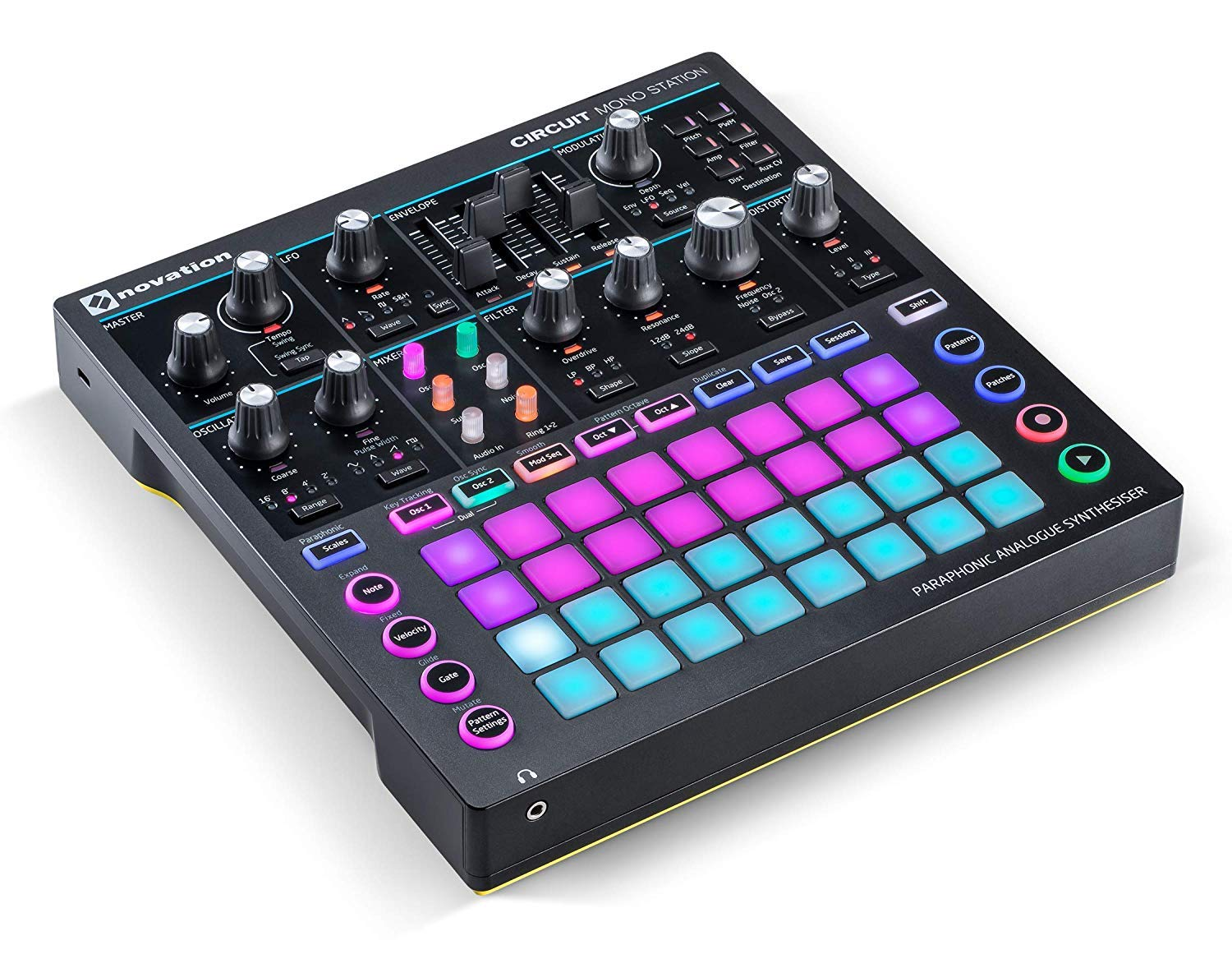 Novation Circuit Mono Station Paraphonic Analog Synthesizer with Microfiber and 1 Year Everything Music Extended Warranty by Novation (Image #4)