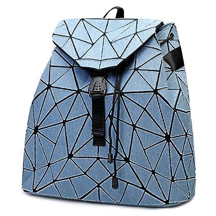 Amazon.com: kaisibo geométrico vaquero mochila con correa ...