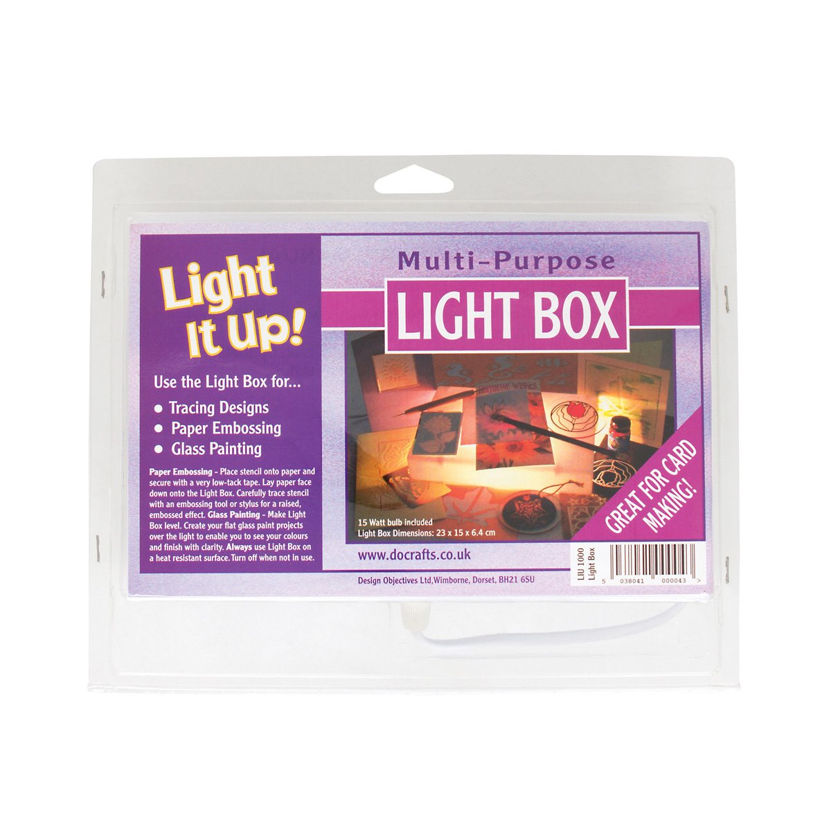 Light It Up!! - Scatola luminosa multiuso Docrafts LIU 1000