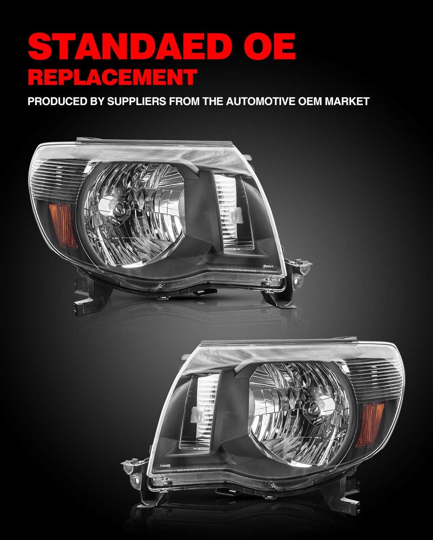 Headlight Assemblies Black KAC Headlight Housing for Replacement ...