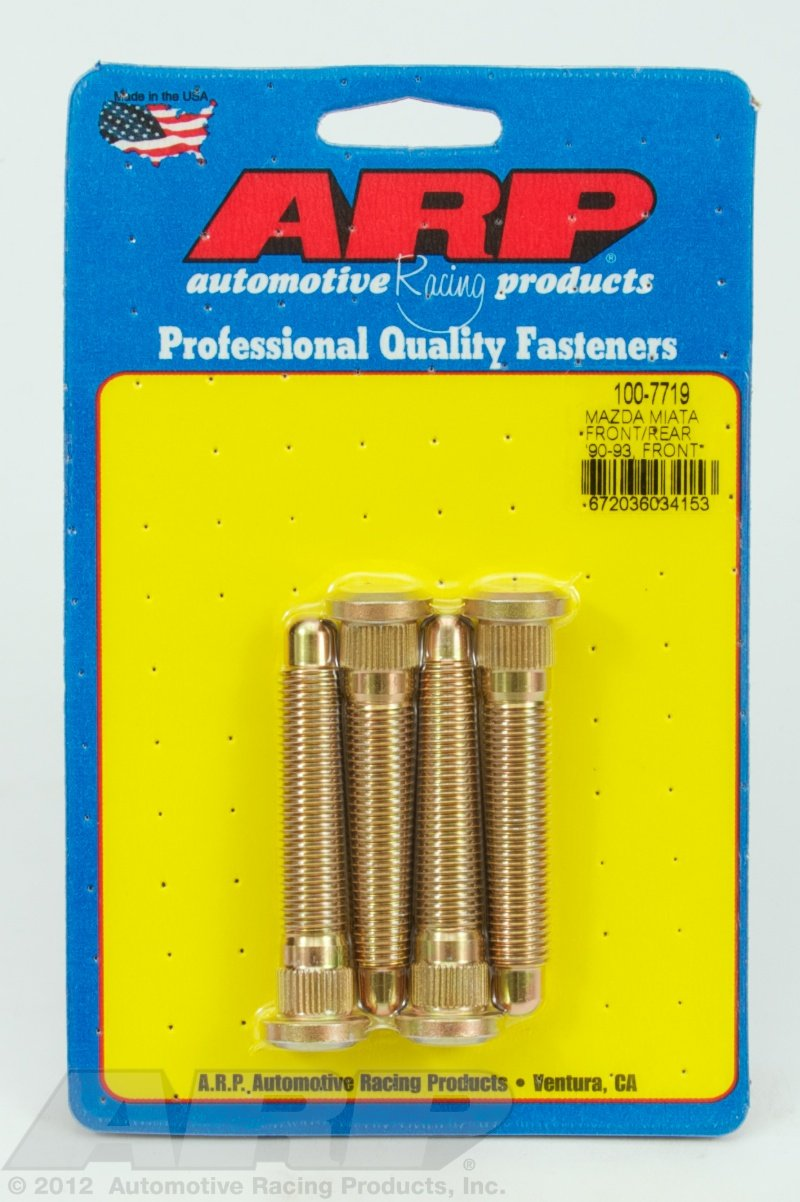 ARP 1007719 Wheel Stud for Front and Rear 90-93 and Front 94-05 Mazda Miata - Pack of 4