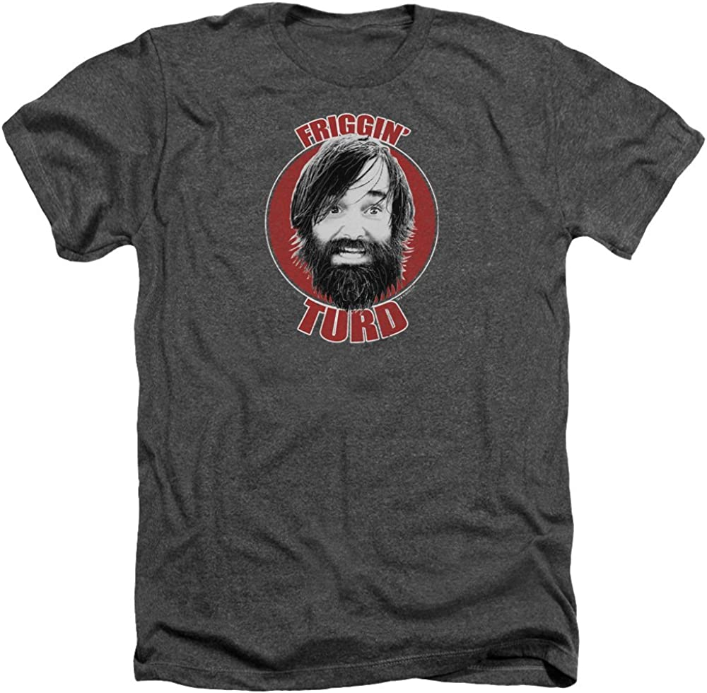 Last Man On Earth Men's Friggin Turd T-Shirt Charcoal