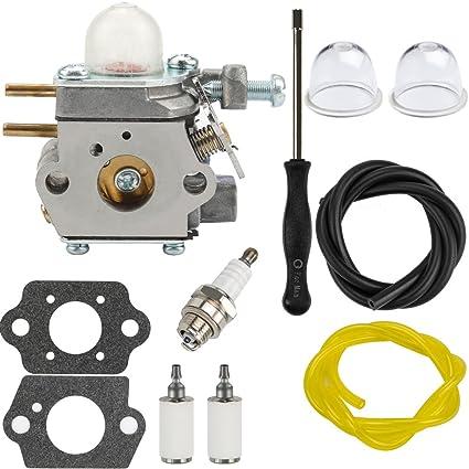 amazon com dalom tb22ec carburetor w fuel filter primer bulb for Troy-Bilt Grass Trimmer Parts dalom tb22ec carburetor w fuel filter primer bulb for troy bilt tb22 tb21ec tb32ec tb42ec
