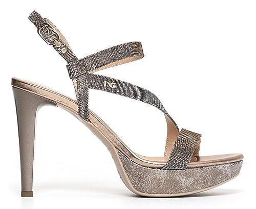 Sandali NeroGiardini P806070DE 327 6070 scarpe eleganti in pelle rame
