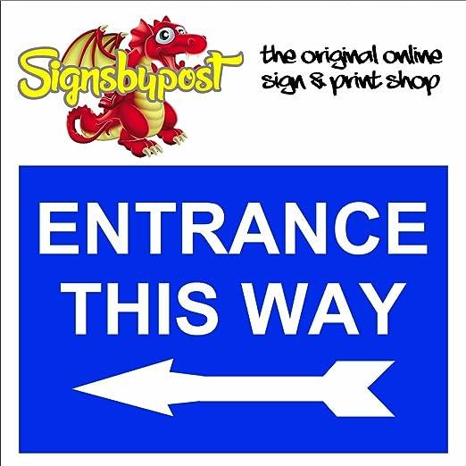 Señal de entrada de esta manera con una flecha hacia la ...