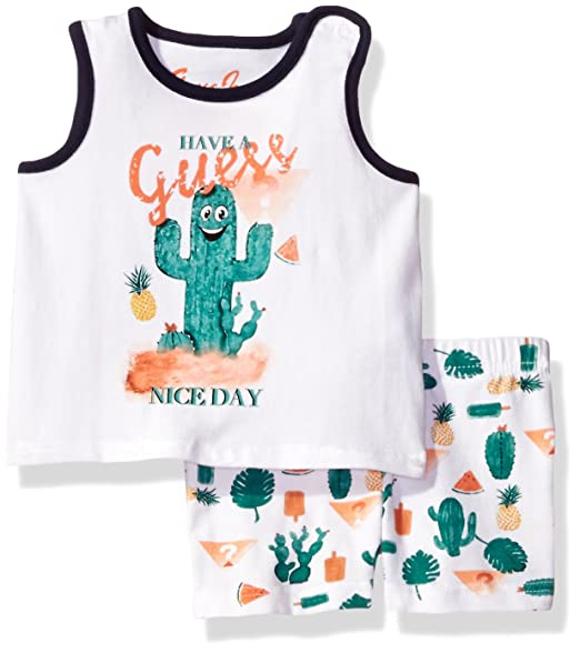 38d073ed8485 Amazon.com: GUESS Baby Boys' Set Sleeve Cactus T-Shirt and Shorts ...