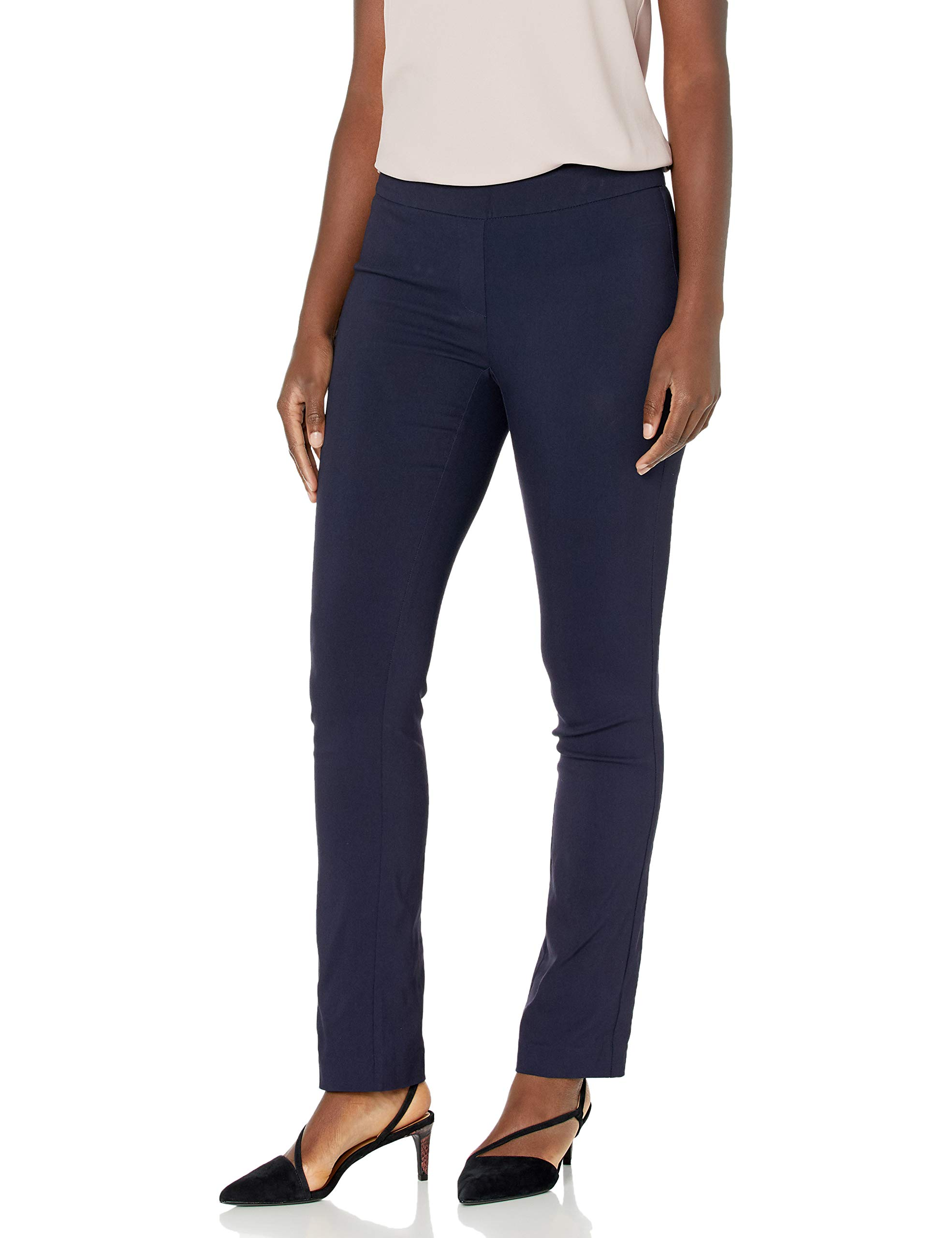 Amazon Brand - Lark & Ro Women's Slim Leg Stretch Pant: Comfort Fit