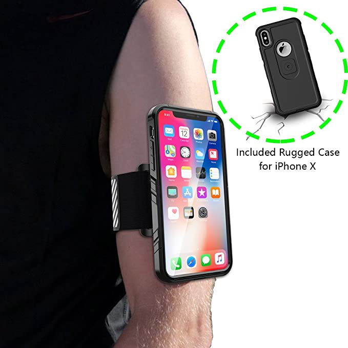 37ea7662b456 Amazon.com: iPhone X/10 Running Armband,Arm Cell Phone Holder for ...