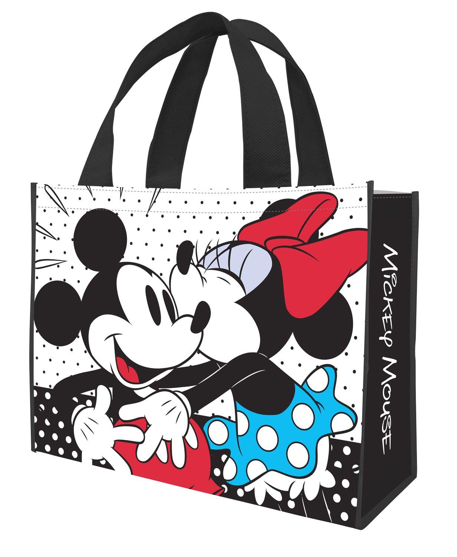 Disney Mickey Minnie Large Recycled Shopper Tote 89073, Disney Minnie Mickey