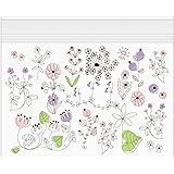 ミドリ ジッパーバッグ  B6  小花柄 55472006