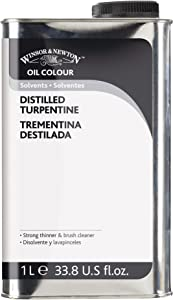 Winsor & Newton Distilled Turpentine, 1 Liter