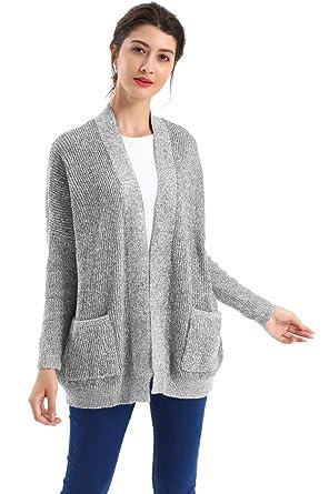 BodiLove Women s Boyfriend Chunky Cable Knit Oversize Cardigan at Amazon  Women s Clothing store  e269b1d34