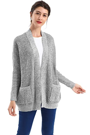 ee5f3e7bf63a BodiLove Women s Boyfriend Chunky Cable Knit Oversize Cardigan at ...