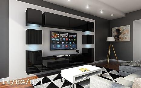 FUTURE 14 Wohnwand Anbauwand Wand Schrank Möbel TV-Schrank ...