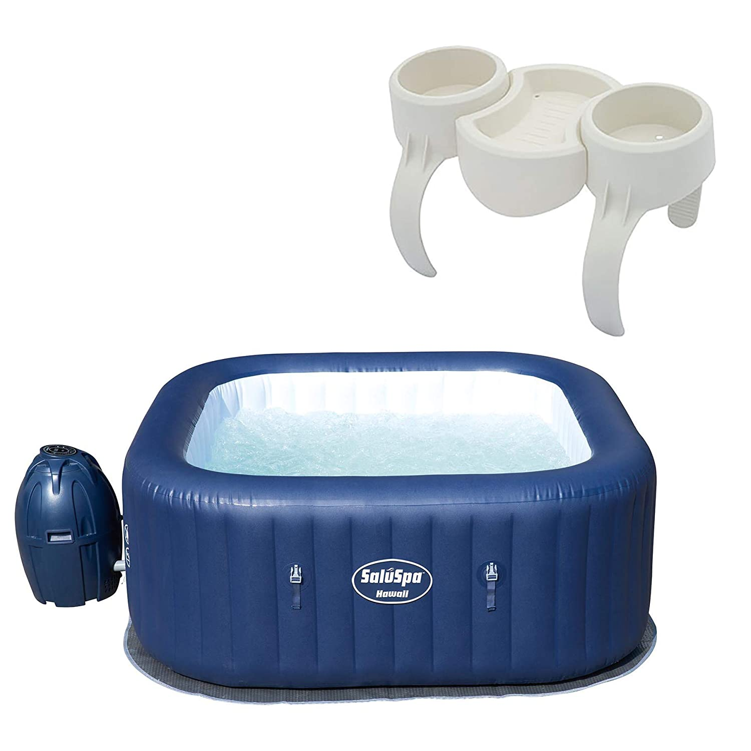 Bestway SaluSpa Hawaii 6 Person Portable Inflatable Spa Hot Tub Drink Holder