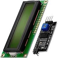 AZDelivery Modulo Pantalla LCD Display Verde HD44780 1602 con interfaz I2C 16x2 caracteres negros compatible con Arduino…