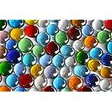 500g Glasnuggets transp. 15-21mm bunt Deko Mosaiksteine ca 120St