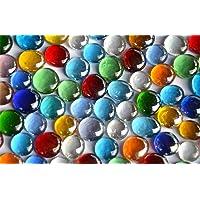 Bazare Masud e.K. Confezione da 500g Mosaico di Vetro Decorativo Nuggets, Trasparente, da 15a 21mm, ca. 120Pices