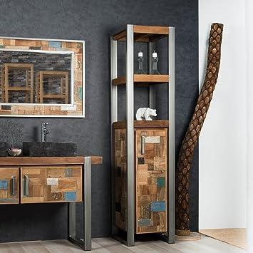 wanda collection Mueble Columna para Cuarto de baño Factory Teca ...
