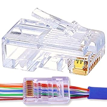 ez rj45 connector cat 6 advanced triple prong gold plated ez rj45 connector cat 6 advanced triple prong gold plated crystal clear
