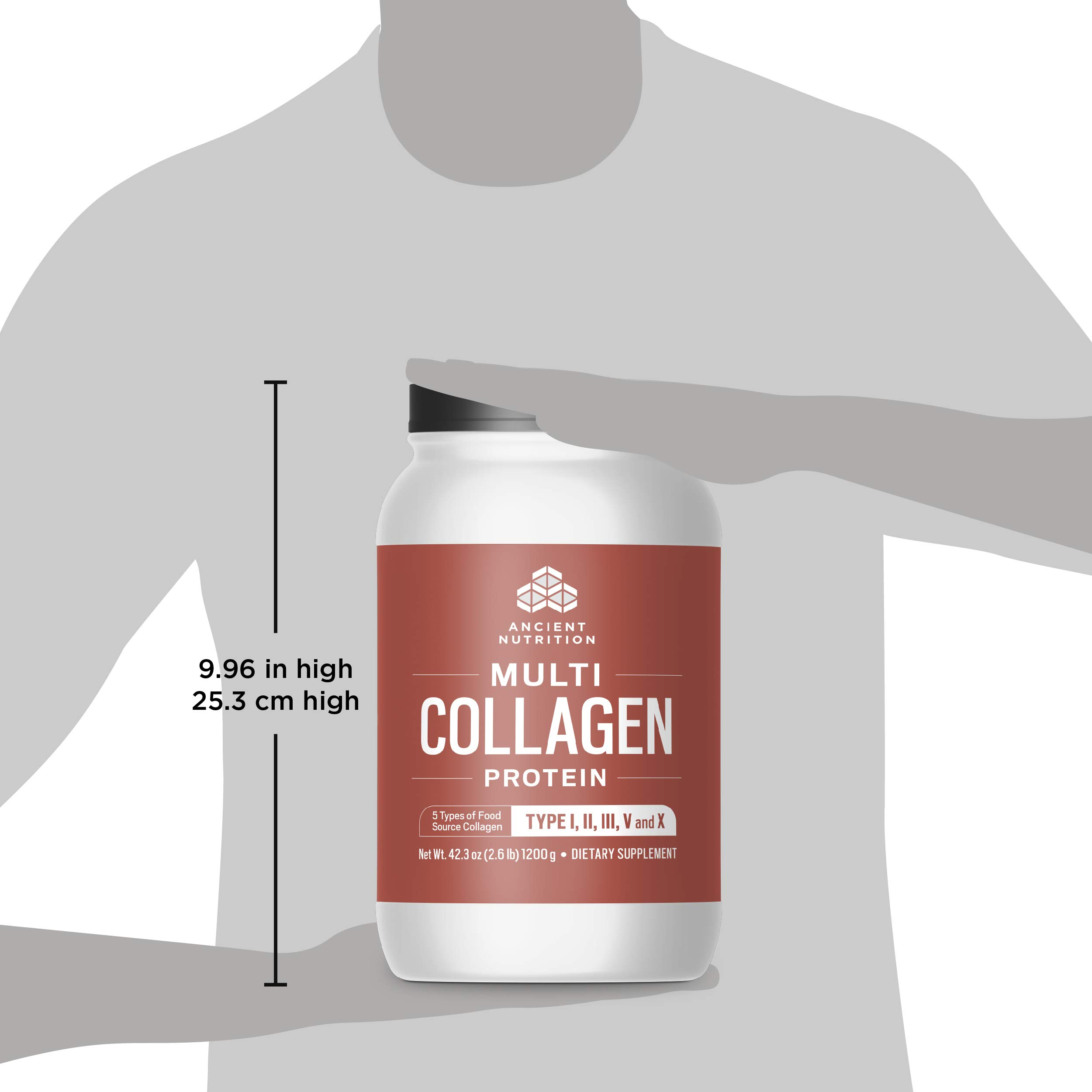 Ancient Nutrition Multi Collagen Protein Powder, 5 Types of Food Source Collagen, Type I, II, III, V and X, 42.3oz by Ancient Nutrition (Image #8)