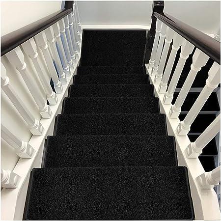 Alfombras de Escalera Peldaños Escaleras Alfombras Tapetes Cojines Piso Mat Alfombrillas para Escalón Múltiples Colores Duraderas 5 Tamaño De 6mm (Color : E, Size : 20PCS 24X100CM): Amazon.es: Hogar