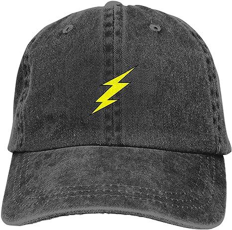 ZharkLI Flash Lightning Bolt Clipart Casquette Gorra de algodón ...