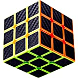 TaoLeLe Speed Cube 3x3x3 Stickerless Bright with Black Carbon Fiber Sticker Smooth 3D Color Magic Cube Upgraded Version