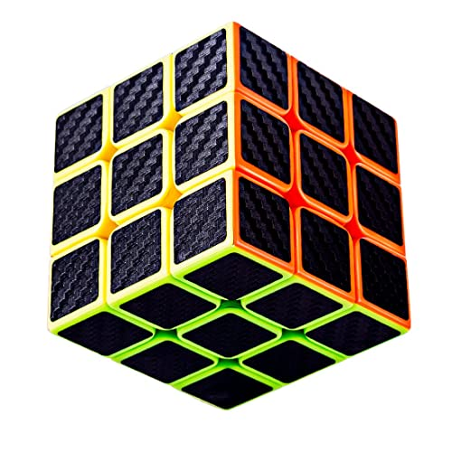 TaoLeLe Speed Cube 3x3x3 Carbon Fiber Sticker Smooth Magic Cube 3D Puzzle Toy Upgraded Version
