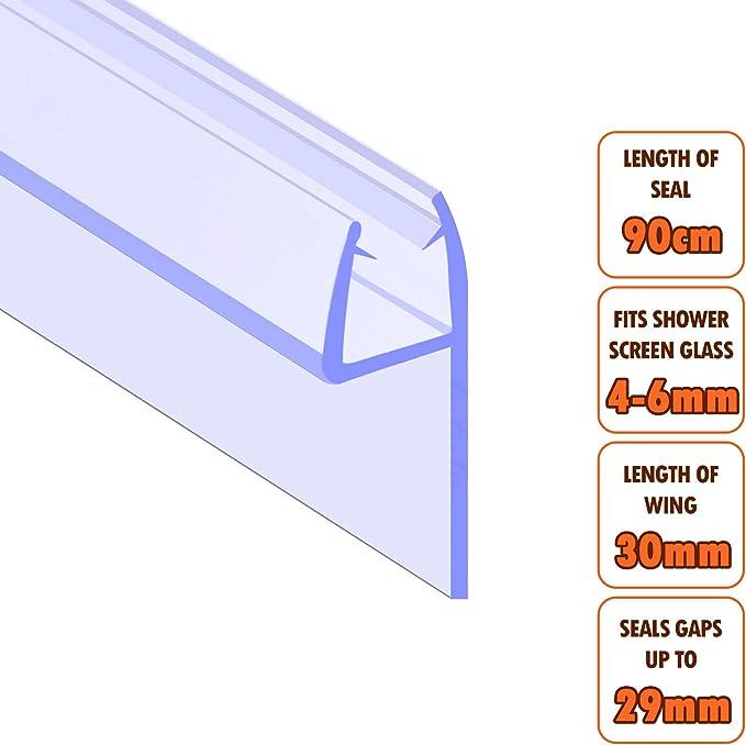 Junta para mampara EcoSpa de ducha cristal de 4 – 6 mm de grosor ...