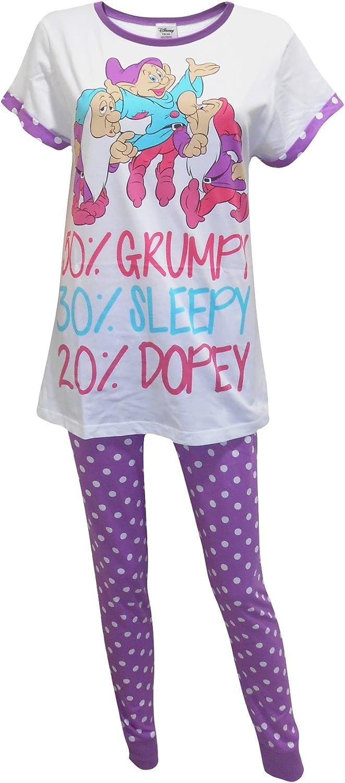 Women/'s Disney snow white 50/% grumpy women/'s girl/'s official Pyjamas Pj