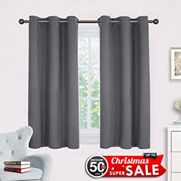 Amazon.com: Bedroom Curtains Blackout Drapery Panels - NICETOWN ...