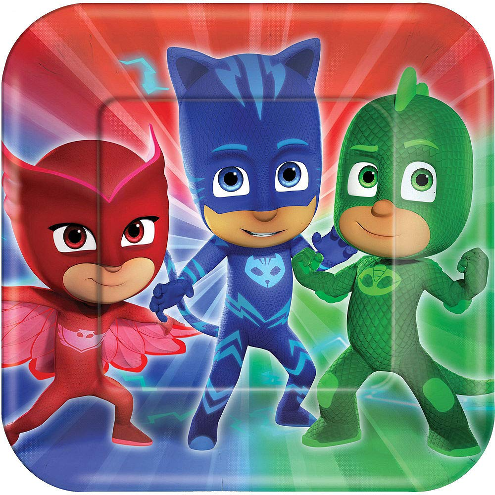 PJ Masks Birthday Party Kit, Includes Happy Birthday Banner and Birthday Candles, Serves 16, by Party City by Party City (Image #3)