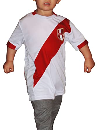 Ama Quella Crafts Peru Soccer Jersey Replica For Kids, White. Russia World Cup 2018