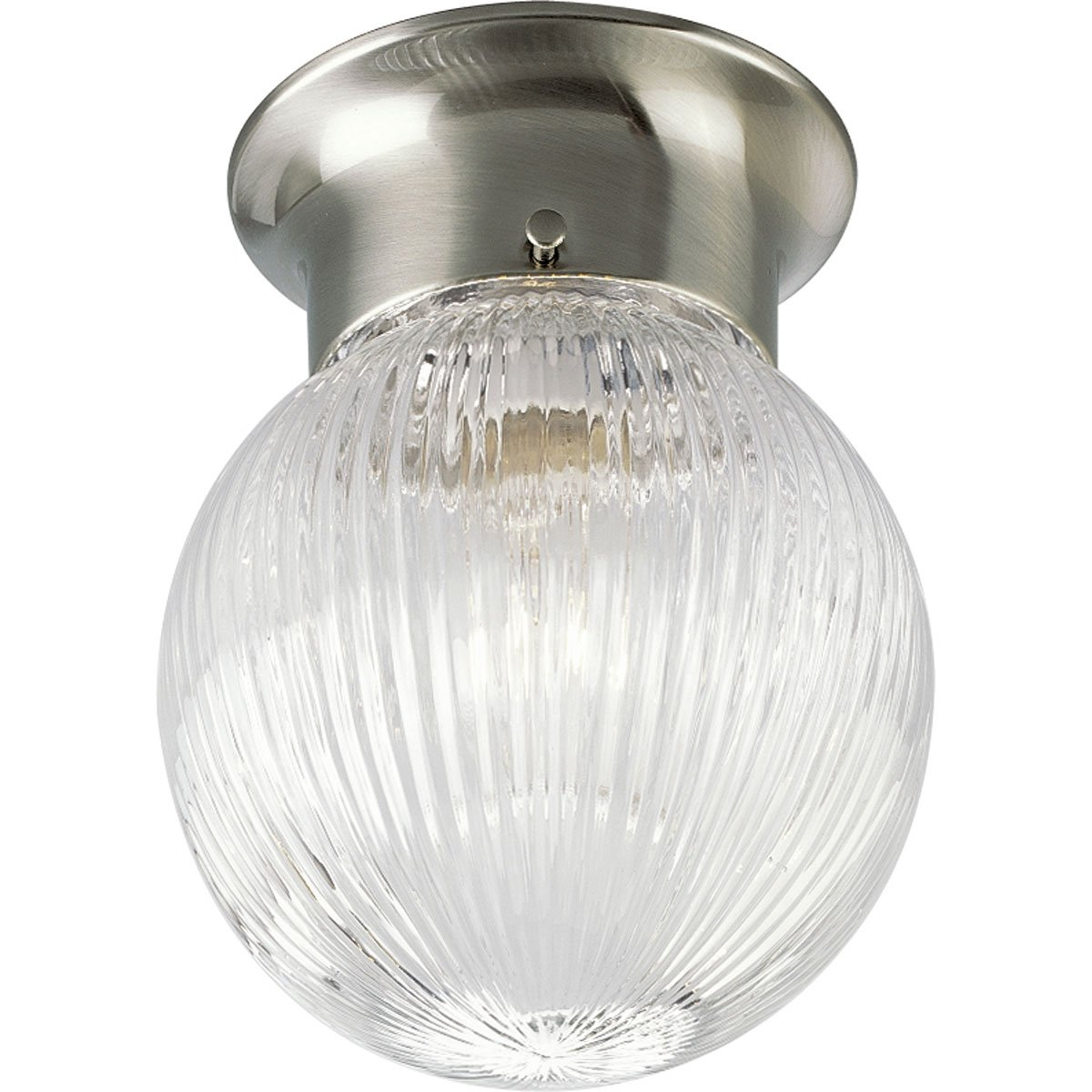 Progress lighting p3599 09 1 light close to ceiling fixture brushed progress lighting p3599 09 1 light close to ceiling fixture brushed nickel flush mount ceiling light fixtures amazon mozeypictures Images